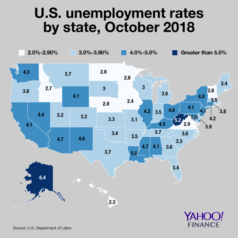 Us Unemployment By State Map Map: The United States of unemployment rates   Randle Report